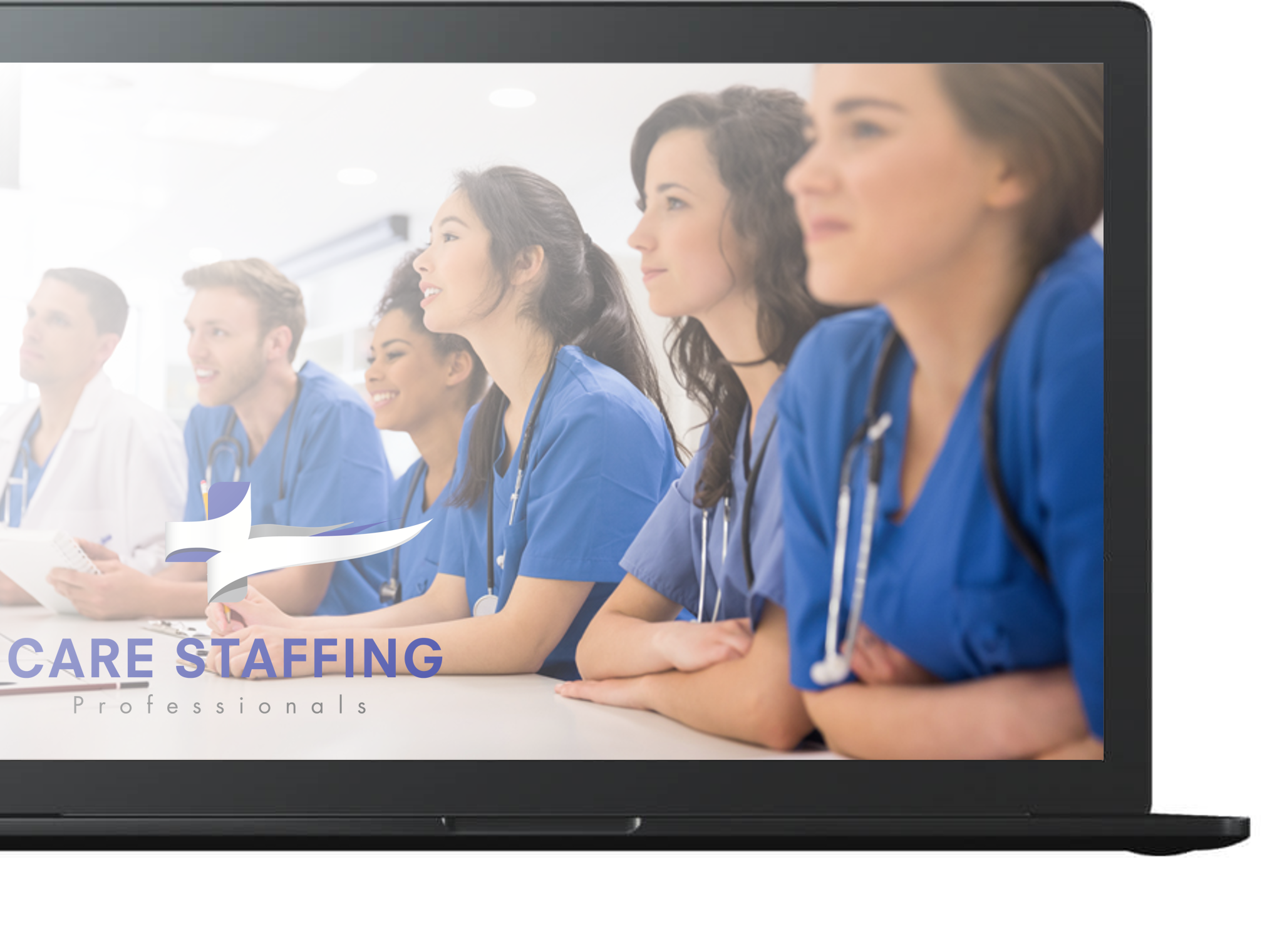 Care Staffing Laptop